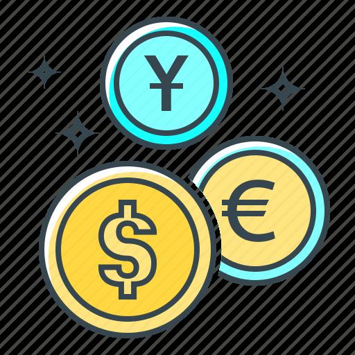 cent, coins, euro, finance, money, money market, yuan icon