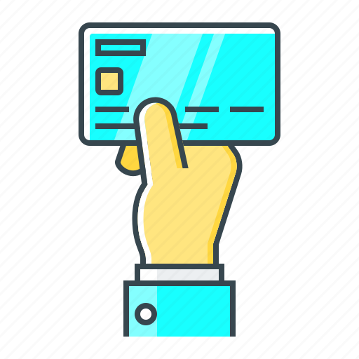 card, hand, non-cash, pay, payment, payment method icon