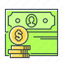 cash, coin, money, profit, revenues icon