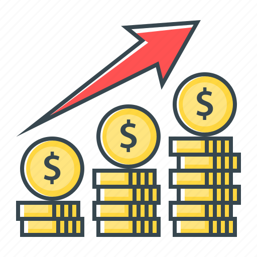 finance, growth, increase, profit, stock exchange icon