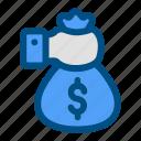 bag, banking, dollar, finance, money