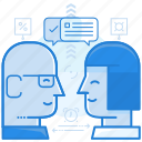 chat, collaboration, consulting icon