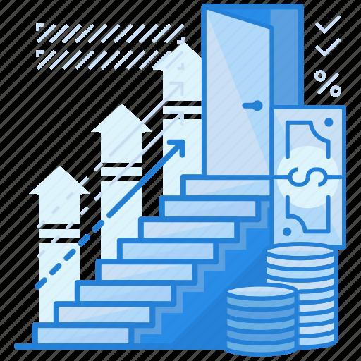 finance, fundraising, goal icon
