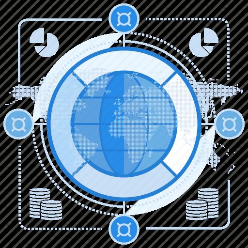 economy, global, market icon
