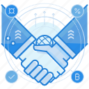 agreement, handshake, partnership icon