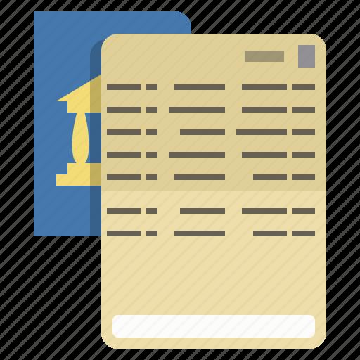 bankbook, finance, passbook, paycheck icon