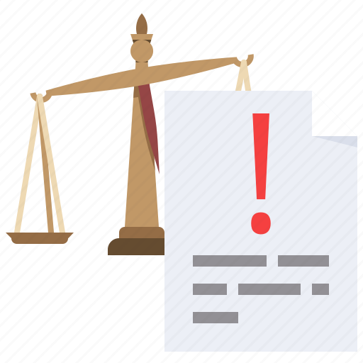 claims, court, justice, law icon