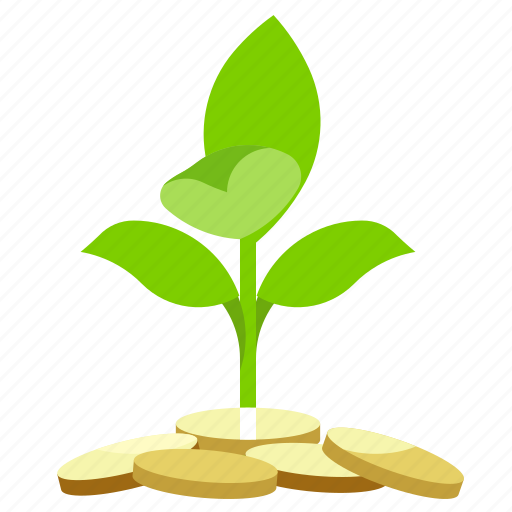 cash, finance, money, plant icon