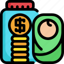 baby, finance, financial, investment, money, saving icon