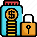 finance, financial, investment, money, saving, secure icon