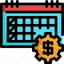 calendar, date, finance, financial, investment, money icon