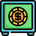 cash, finance, financial, investment, money, payment, safe icon