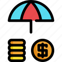 dollar, finance, financial, insurance, investment, money icon