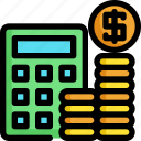 accountant, calculator, finance, financial, investment, money, payment icon