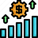 business, chart, finance, financial, investment, money icon