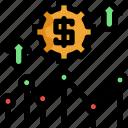 analytics, chart, finance, financial, investment, line, money icon