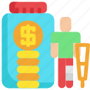 finance, financial, insurance, investment, money, patient, saving icon
