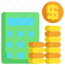 calculator, cash, finance, financial, investment, money] icon