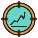 find, focus, investment, screener, stock, uptrend, value icon