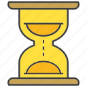 clock, sand clock, time icon