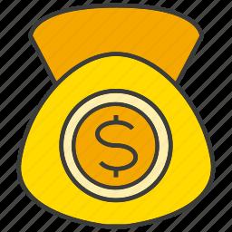dollar, money, purse, rich, sack, saving, wealth icon