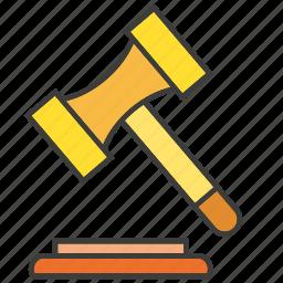 bid, gavel, hammer, judge, judgment, law, legal icon
