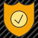 aegis, check, egis, guarantee, protect, shield, tick icon