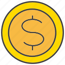 coin, currency, dollar, finance, invest, money, rich icon