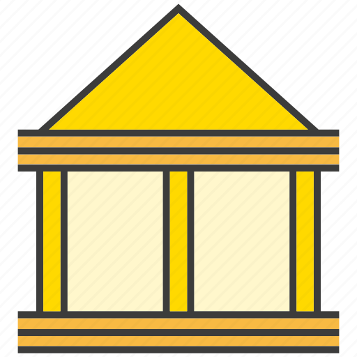 bank, building, finance, place icon