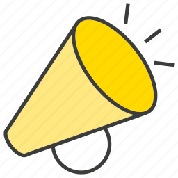 announce, megaphone, news, sound icon