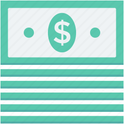 currency stack, dollar stack, money, money stack, paper money icon