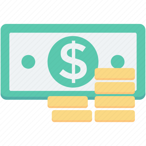 banknote, coins, currency, paper money, paper note icon