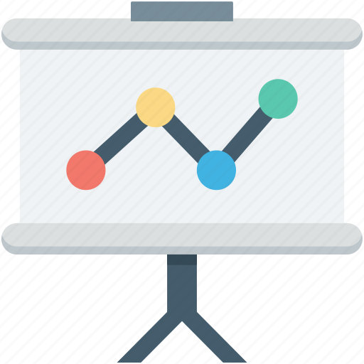 bar chart, bar graph, easel board, easel graph, graph board icon