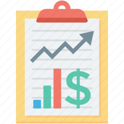 business analysis, business report, finance report, graph report, statistics icon