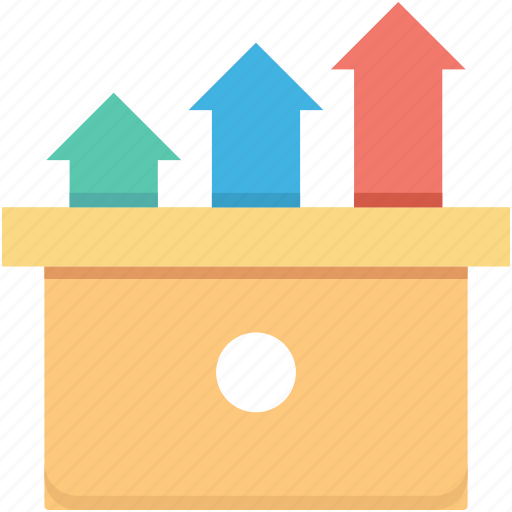 arrows, business growth, growth, growth arrows, statistics icon
