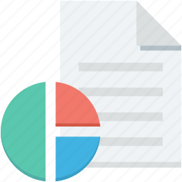 business report, financial report, graph report, pie graph, report icon
