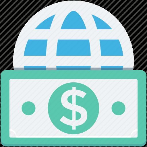 business, finance, globe, world, worldwide business icon