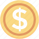banking, dollar coin, usd, dollar, currency icon