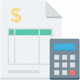 banking, bill, calculator, financial, invoice icon