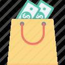 bag, cash, dollar, money bag, tote bag