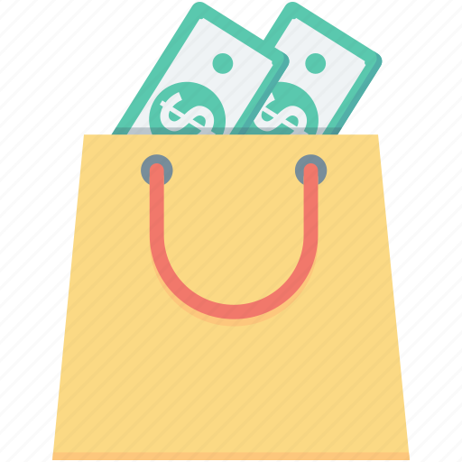 bag, cash, dollar, money bag, tote bag icon