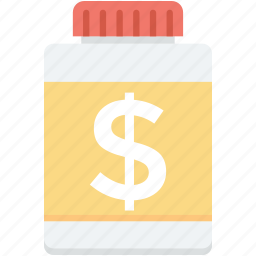 bottle, business, container, financial, jar icon