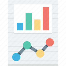 bar graph, graph, graph report, line graph, online graph icon