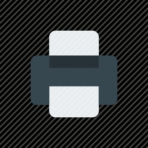 business, document, e commerce, finance, printer icon