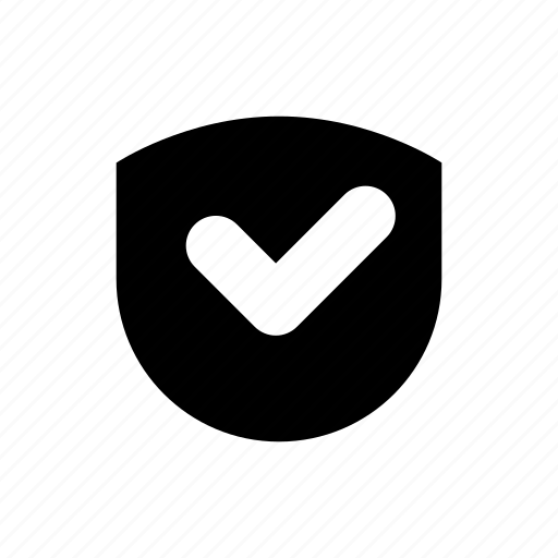 bank, business, bw, e commerce, filled, finance, shield icon