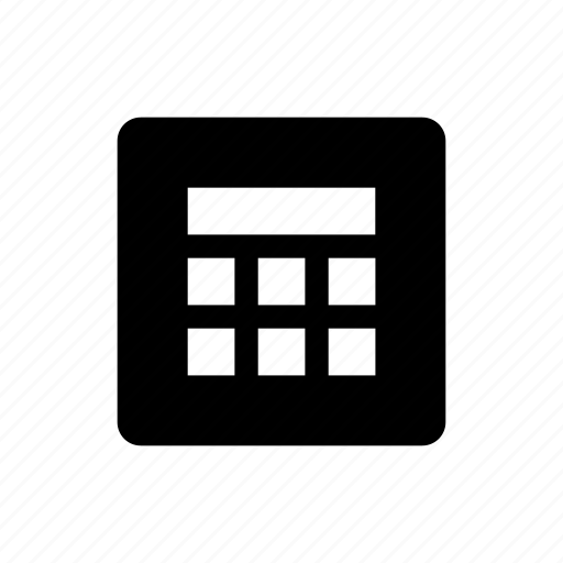 bank, business, bw, calculator, e commerce, filled, finance icon