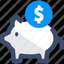 coin, funds, money, piggy bank, savings