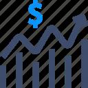 chart, dollar, growth, statistics, stats