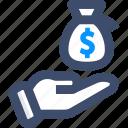 bank, dollar, investment, money, save money