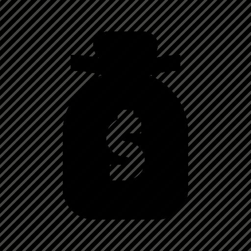 bag, cash, dollar, exchequer, money icon